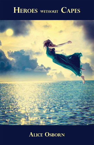 book cover woman floating in air